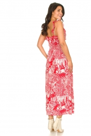 Silvian Heach |  Maxi dress with print Sirius | red  | Picture 8