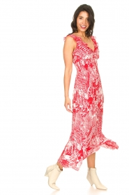 Silvian Heach |  Maxi dress with print Sirius | red  | Picture 6