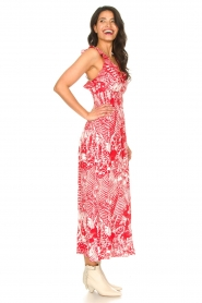 Silvian Heach |  Maxi dress with print Sirius | red  | Picture 7
