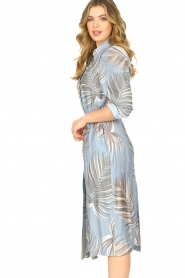 Silvian Heach |  Midi dress with shoulder pads Rye | blue  | Picture 4