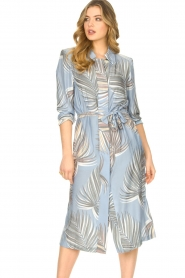 Silvian Heach |  Midi dress with shoulder pads Rye | blue  | Picture 2