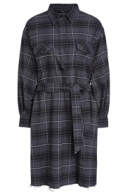 Set |   Flannel dress with tie belt Dima | gray  | Picture 1
