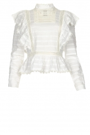 Silvian Heach |  Cotton broderie blouse Loria | white  | Picture 1