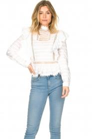 Silvian Heach |  Cotton broderie blouse Loria | white  | Picture 2