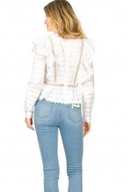 Silvian Heach |  Cotton broderie blouse Loria | white  | Picture 8
