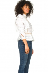 Silvian Heach |  Cotton broderie blouse Loria | white  | Picture 7