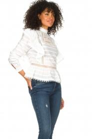 Silvian Heach |  Cotton broderie blouse Loria | white  | Picture 6