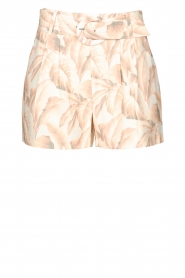 Silvian Heach |  Short with leaf print Mantova | pink   | Picture 1