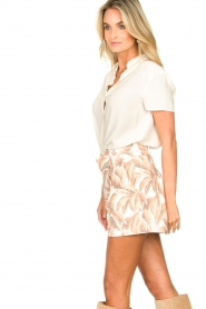 Silvian Heach |  Short with leaf print Mantova | pink   | Picture 5