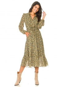 Set |  Maxi dress with print Bo | green  | Picture 4