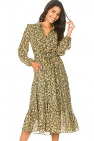 Set |  Maxi dress with print Bo | green  | Picture 2