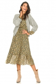 Set |  Maxi dress with print Bo | green  | Picture 3
