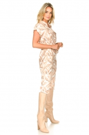 Silvian Heach |  Jumpsuit with leafs print Catriona | pink  | Picture 5