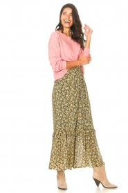 Set |  Maxi skirt with print Yana | green  | Picture 4