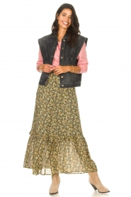 Set |  Maxi skirt with print Yana | green  | Picture 2