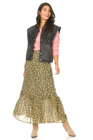 Set |  Maxi skirt with print Yana | green  | Picture 3