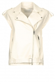 Silvian Heach |  Faux leather waistcoat Queenie | natural  | Picture 1