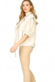 Silvian Heach |  Faux leather waistcoat Queenie | natural  | Picture 6