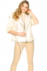 Silvian Heach |  Faux leather waistcoat Queenie | natural  | Picture 4