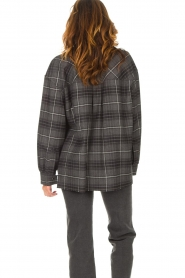 Set |  Checkered flannel blouse Jimi | grey  | Picture 8