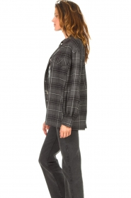 Set |  Checkered flannel blouse Jimi | grey  | Picture 7