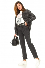 Set |  Checkered flannel blouse Jimi | grey  | Picture 3