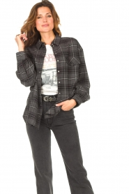 Set |  Checkered flannel blouse Jimi | grey  | Picture 5