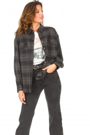 Set |  Checkered flannel blouse Jimi | grey  | Picture 4