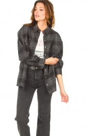 Set |  Checkered flannel blouse Jimi | grey  | Picture 6