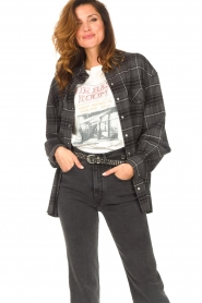 Set |  Checkered flannel blouse Jimi | grey  | Picture 2
