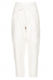 Silvian Heach |  Faux leather pants with balloon legs | white  | Picture 1