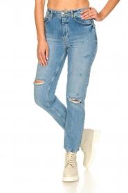 Silvian Heach |  High waist jeans Elbertir | blue  | Picture 6