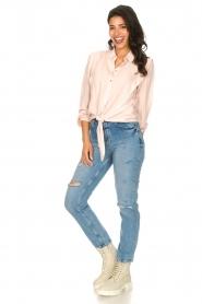 Silvian Heach |  High waist jeans Elbertir | blue  | Picture 3