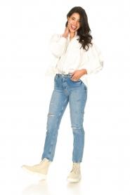 Silvian Heach |  High waist jeans Elbertir | blue  | Picture 4