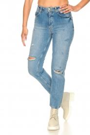 Silvian Heach |  High waist jeans Elbertir | blue  | Picture 5