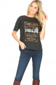 Set | T-shirt met opdruk Faya | zwart  | Afbeelding 6