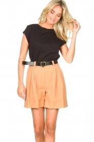 Silvian Heach |  Short with belt Pensipa | brown  | Picture 5