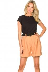 Silvian Heach |  Short with belt Pensipa | brown  | Picture 2