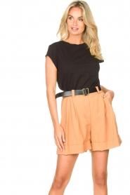 Silvian Heach |  Short with belt Pensipa | brown  | Picture 4