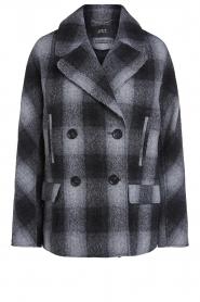 Set    Checkered coat Gwen   black    Picture 1