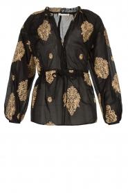 Silvian Heach |  Semi-sheer blouse Prodelsi | black  | Picture 1