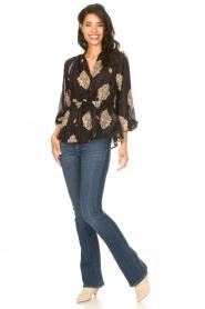 Silvian Heach |  Semi-sheer blouse Prodelsi | black  | Picture 3