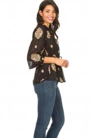 Silvian Heach |  Semi-sheer blouse Prodelsi | black  | Picture 6