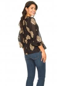 Silvian Heach |  Semi-sheer blouse Prodelsi | black  | Picture 7