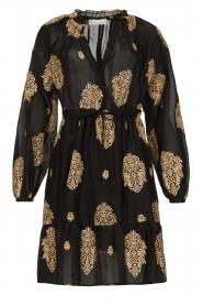 Silvian Heach |  Dress with ruffles Quintius | black  | Picture 1