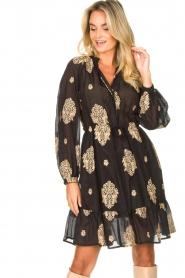 Silvian Heach |  Dress with ruffles Quintius | black  | Picture 5