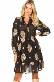 Silvian Heach |  Dress with ruffles Quintius | black  | Picture 2