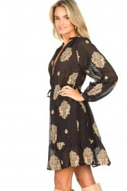Silvian Heach |  Dress with ruffles Quintius | black  | Picture 7