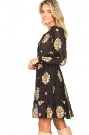 Silvian Heach |  Dress with ruffles Quintius | black  | Picture 6