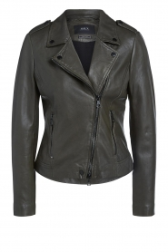 Set |  Leather jacket Jaimy | green  | Picture 1